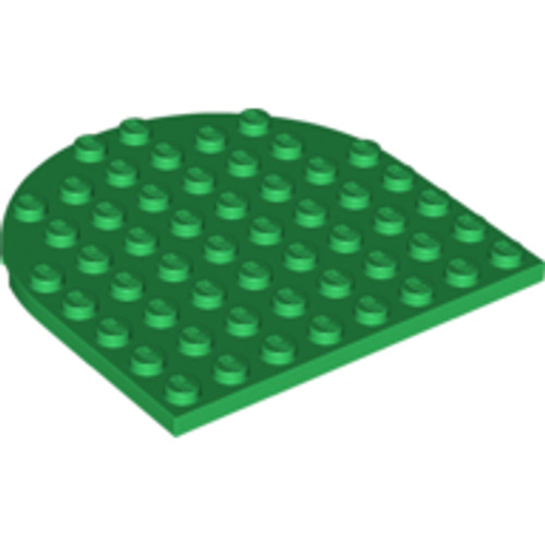 Plate Round 8x8 Rounded End (Green)