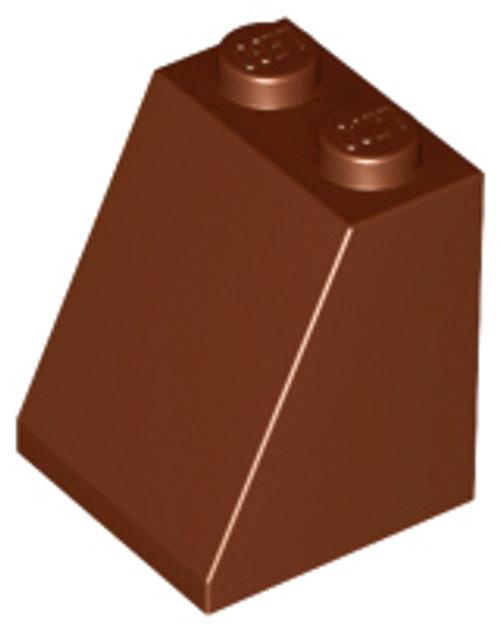 Slope 65 2x2x2 with Bottom Tube (Reddish Brown)
