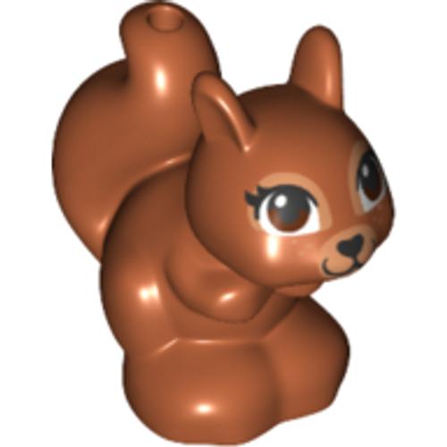 Squirrel, Friends / Elves with Black, Brown and White Eyes (Dark Orange)