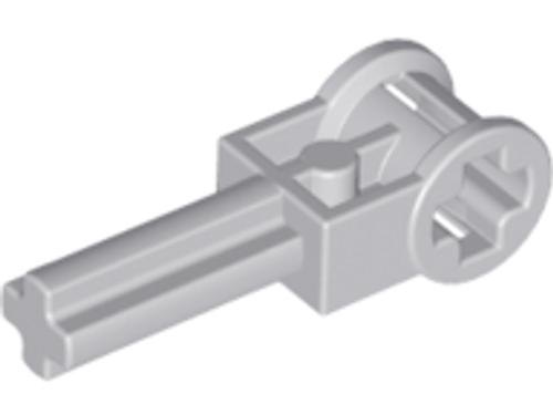 Technic, Axle 2L with Reverser Handle Axle Connector (Light Bluish Gray)