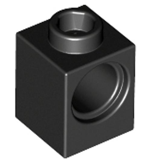 Technic, Brick 1x1 with Hole (Black)