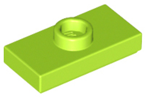 Plate, Modified 1x2 with 1 Stud with Groove and Bottom Stud Holder (Lime)
