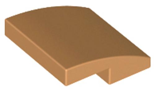Slope, Curved 2x2 No Studs (Medium Nougat)