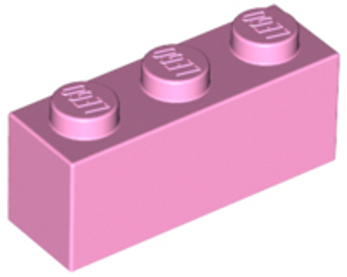 Brick 1x3 (Bright Pink)