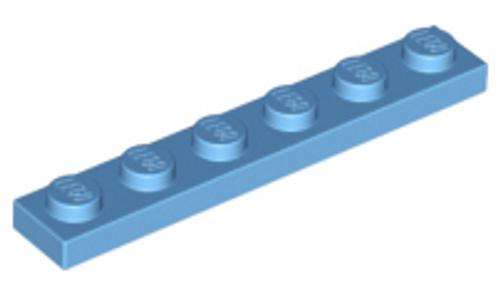 Plate 1x6 (Medium Blue)