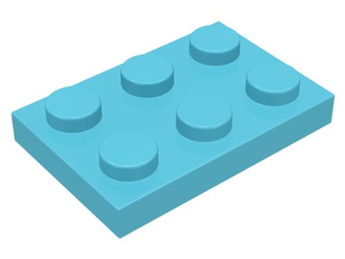 Plate 2x3 (Medium Azure)