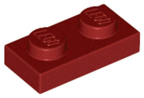 Plate 1x2 (Dark Red)