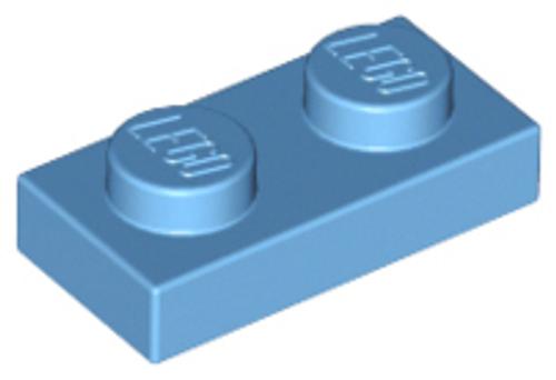 Plate 1x2 (Medium Blue)