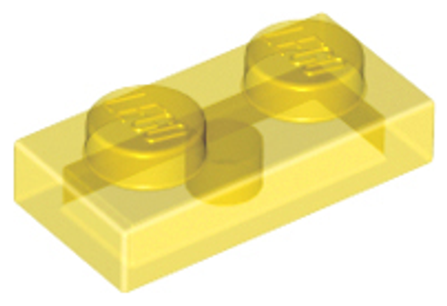 Plate 1x2 (Trans Yellow)