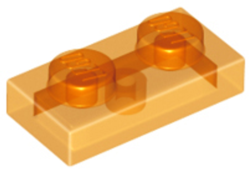 Plate 1x2 (Trans Orange)