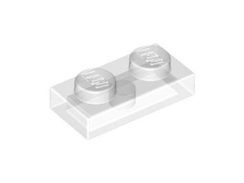 Plate 1x2 (Trans Clear)