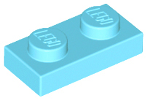 Plate 1x2 (Medium Azure)
