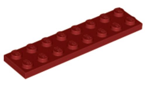 Plate 2x8 (Dark Red)