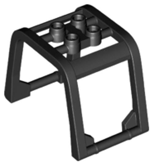 Windscreen 6x4x3 1/3 Roll Cage (Black)