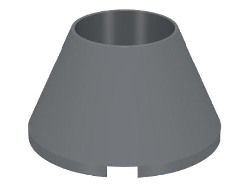 Cone 4x4x2 Hollow No Studs (Dark Bluish Gray)