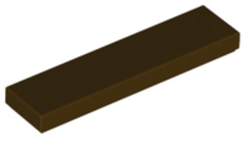 Tile 1x4 (Dark Brown)