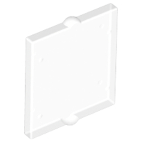 Glass for Window 1x2x2 Flat Front (Trans Clear)