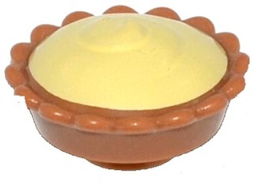 Pie with Bright Light Yellow Cream Filling (Medium Dark Flesh)