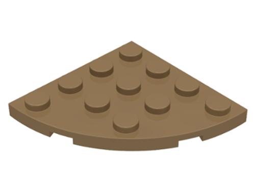 Plate, Round Corner 4x4 (Dark Tan)