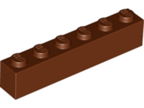Brick 1x6 (Reddish Brown)