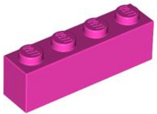 Brick 1x4 (Dark Pink)
