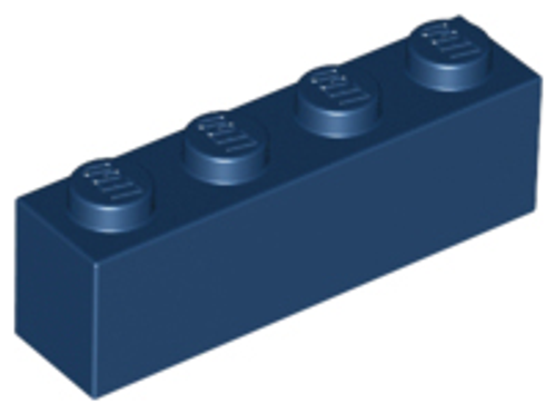 Brick 1x4 (Dark Blue)