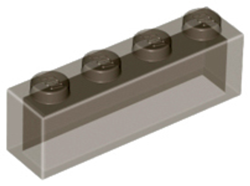 Brick 1x4 without Bottom Tubes (Trans Black)