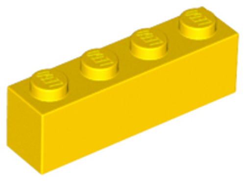 Brick 1x4 (Yellow)