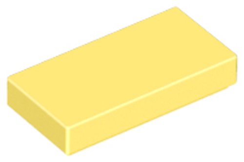Tile 1x2 with Groove (Bright Light Yellow)