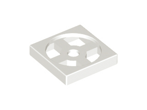 Turntable 2x2 Plate, Base (White)