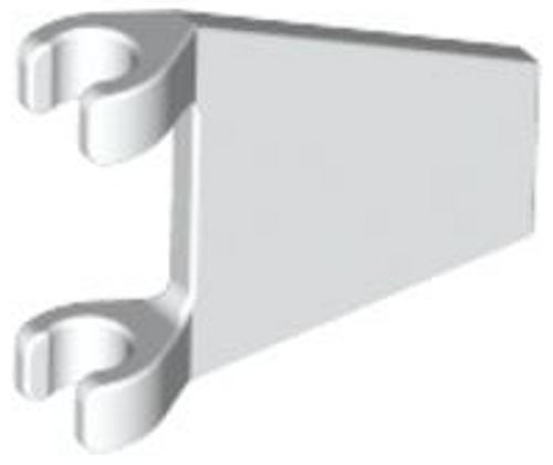 Flag 2x2 Trapezoid (White)