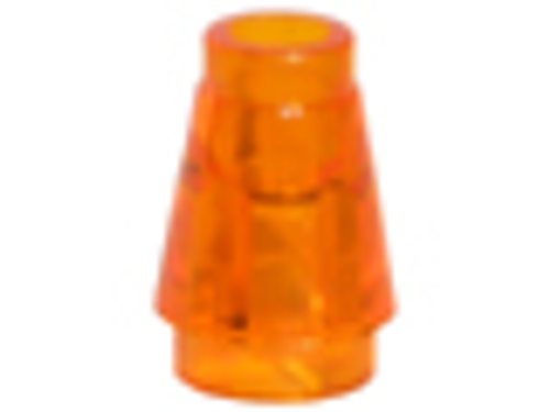 Cone 1x1 with Top Groove (Trans Orange)