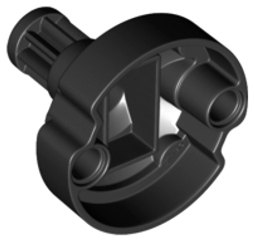 Technic, Gear 8 Tooth with Pin Holes - Short Shaft (Black)