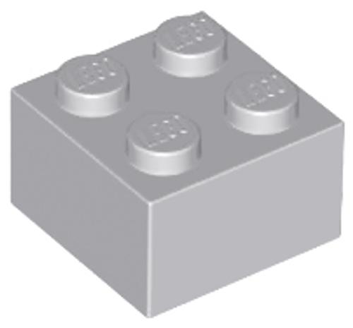 Brick 2x2 (Light Bluish Gray)