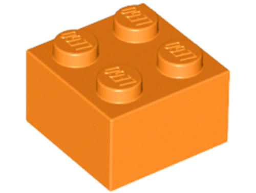 Brick 2x2 (Orange)