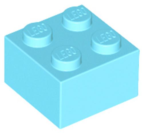 Brick 2x2 (Medium Azure)