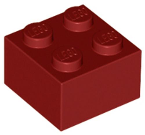 Brick 2x2 (Dark Red)