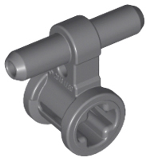 Pneumatic Hose Connector with Axle Connector (Dark Bluish Gray)