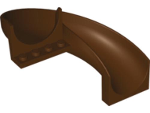 Slide, Playground 6x12x8 Curved 180 degrees (Dark Brown)