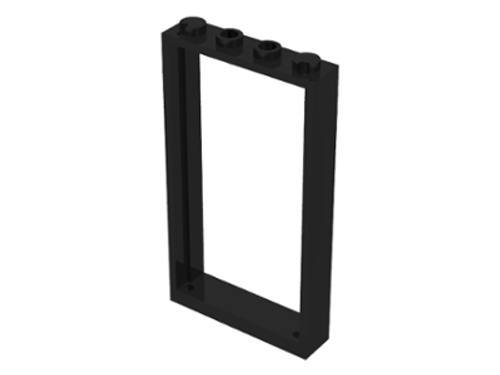 Door Frame 1x4x6 with Two Holes on Top and Bottom (Black)