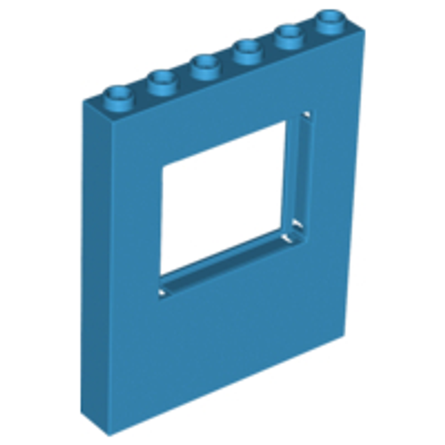 Panel 1x6x6 with Window (Dark Azure)