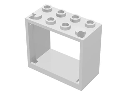 Window 2x4x3 Frame - Hollow Studs (White)