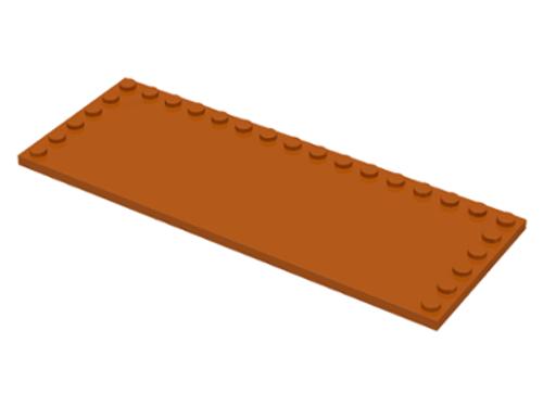 Tile, Modified 6x16 with Studs on Edges (Dark Orange)