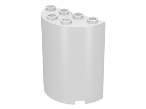 Cylinder Half 2x4x4 (White)