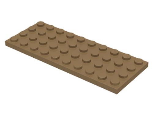 Plate 4x10 (Dark Tan)