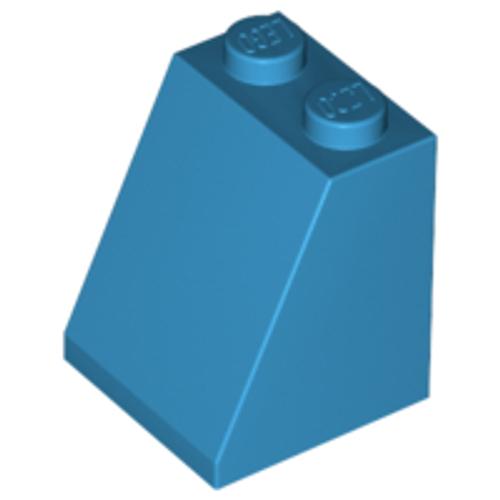 Slope 65 2x2x2 with Bottom Tube (Dark Azure)