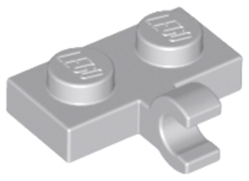 Plate, Modified 1x2 with Clip Horizontal on Side (Light Bluish Gray)