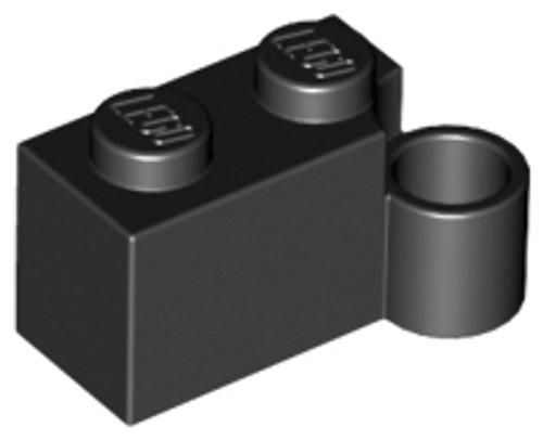 Hinge Brick 1 x 4 Swivel Base (Black)