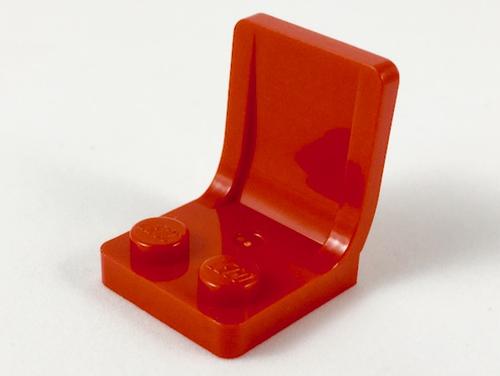 Minifigure, Utensil Seat (Chair) 2x2 (Red)