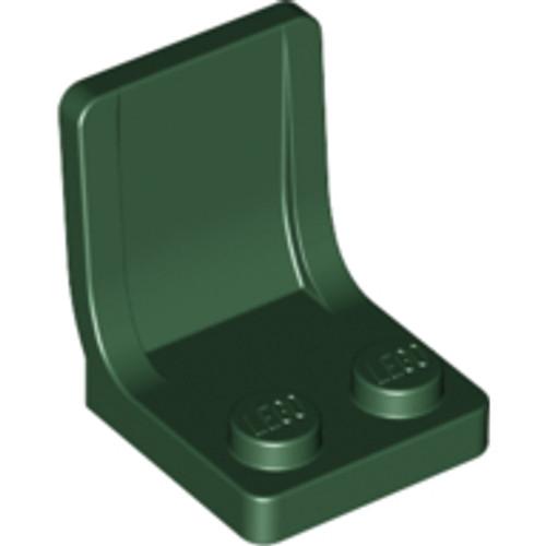 Minifigure, Utensil Seat (Chair) 2x2 (Dark Green)